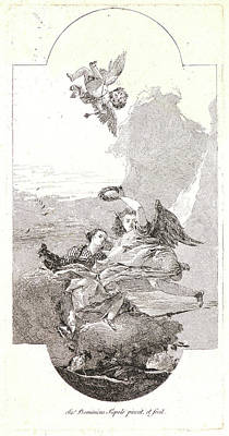 Old Glory Drawing - Giovanni Domenico Tiepolo Italian by Litz Collection