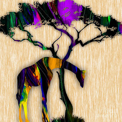 Giraffe Mixed Media - Giraffe Painting by Marvin Blaine