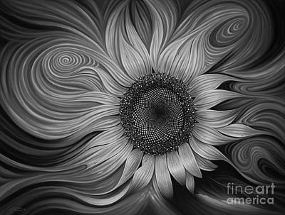 Sunflowers Royalty Free Images - Girasol Dinamico Royalty-Free Image by Ricardo Chavez-Mendez