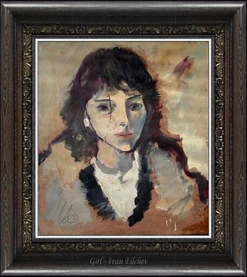 Portrait Painting - Girl by Ivan Filchev