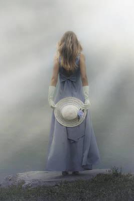 Girl With Sun Hat Art Print