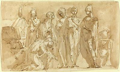 Bison Drawing - Giuseppe Bernardino Bison, Italian 1762-1844 by Litz Collection