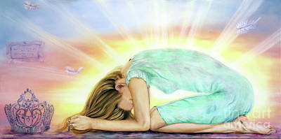 Bride Of Christ Painting - Give It All Back To You by Jeanette Sthamann