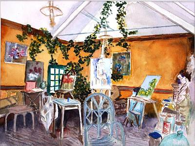Painting - Giverny L'etalier  by Donna Walsh