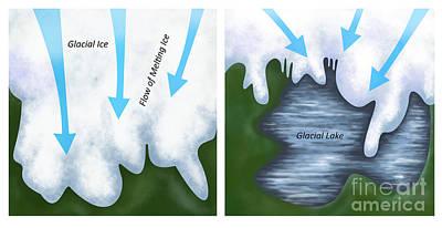 Glacial Melt Art Print by Gwen Shockey