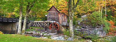 Photograph - Glade Creek Grist Mill Pano  by Emmanuel Panagiotakis