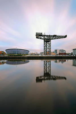 Photograph - Glasgow Clyde Reflections by Grant Glendinning