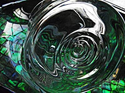 Photograph - Glass Abstract 416 by Sarah Loft
