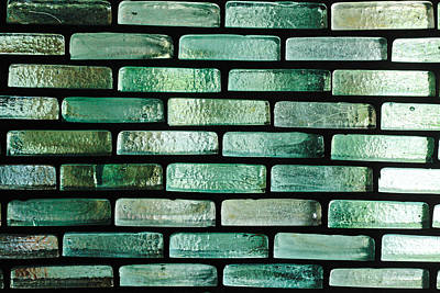 Glass Bricks Art Print by Tom Gowanlock
