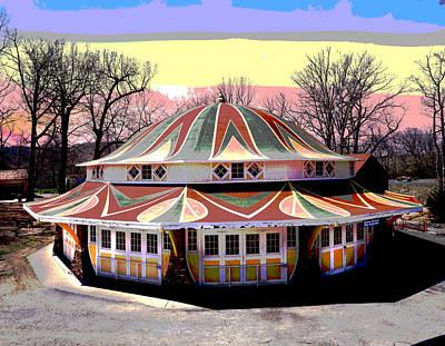 Wooden Platform Mixed Media - Glen Echo Park by Charles Shoup