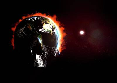 Planetary Science Photograph - Global Destruction by Animate4.com/science Photo Libary