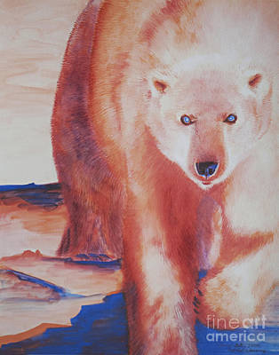 Kodiak Bear Painting - Global Warning by Tracy L Teeter