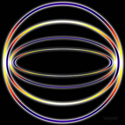 Digital Art - Glow Sphere by Derek Gedney