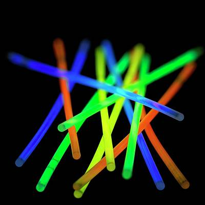 Bright Colours Photograph - Glow Sticks by Science Photo Library