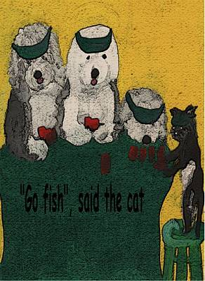 Mixed Media - Go Fish Said The Cat by Cathy Howard