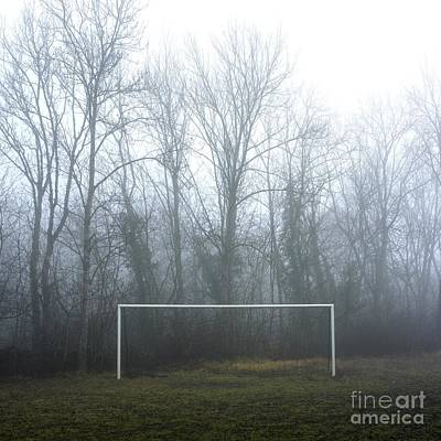 Bare Trees Photograph - Goal by Bernard Jaubert