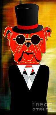 Puppies Mixed Media - Going Somewhere Mr Bulldog by Marvin Blaine