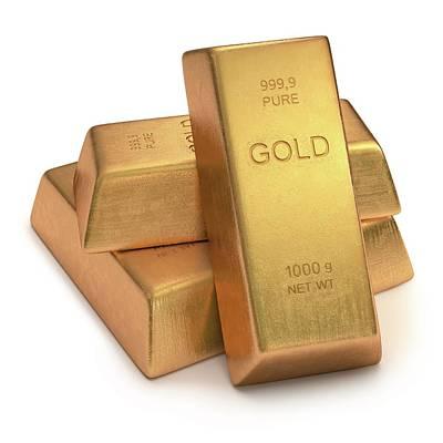 Gold Bullion Print by Ktsdesign
