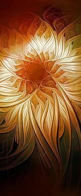 Framed Art Digital Art - Golden Glory by Amanda Moore