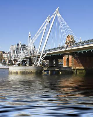 Golden Jubilee Bridges London Art Print