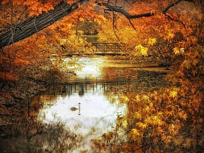 Autumn Pond Photograph - Golden Pond by Jessica Jenney