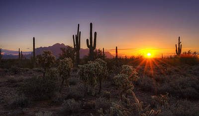 The Superstitions Photograph - Good Morning Arizona  by Saija  Lehtonen