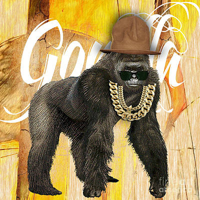 Gorilla Mixed Media - Gorilla Collection by Marvin Blaine