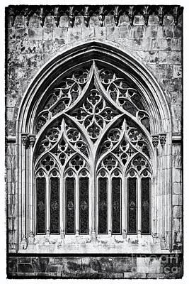 Window Photograph - Gothic Stain-glass Window by Jose Elias - Sofia Pereira