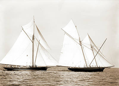 Gracie And Volunteer Foul, Gracie Yacht Art Print by Litz Collection