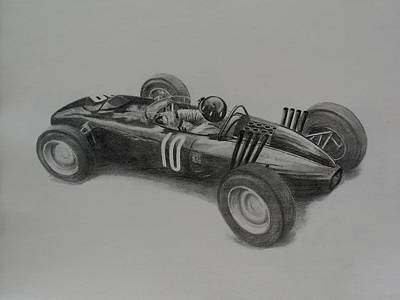 Drawing - Graham Hill  Brm by Steve Jones
