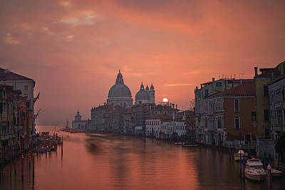 Basilica Photograph - Grand Canal - Venice, Italy by Georgy Krivosheev