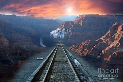 Photograph - Grand Canyon Collage by Gunter Nezhoda
