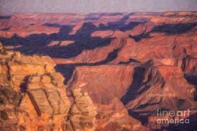 America Digital Art - Grand Canyon Sunrise by Liz Leyden
