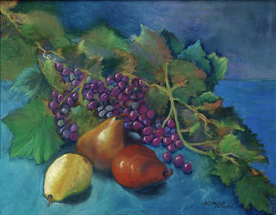 Grapes And Pears Art Print by Antonia Citrino