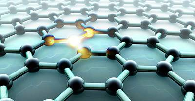 2d Photograph - Graphene by Animate4.com/science Photo Libary