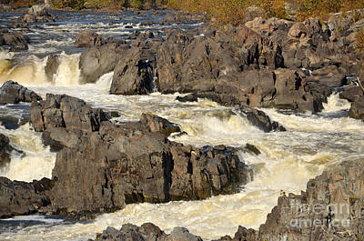 Digital Art - Great Falls On Potomac River In Virginia by Eva Kaufman