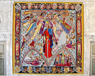 Great Hall Tapestry - Christiansborg Palace - Copenhagen Denmark Art Print by Jon Berghoff