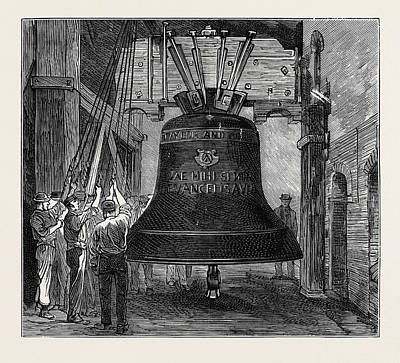 Church Bells Drawing - Great Paul The New Bell For St by English School