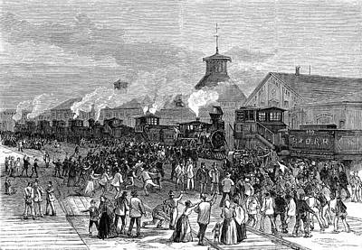 Railroad Workers Photograph - Great Railroad Strike, 1877 by Photo Researchers