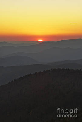 Mountians Photograph - Great Smokie Mountains National Park Sunset by Dustin K Ryan