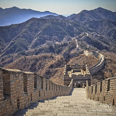 Great Wall Photograph - Great Wall Of China Mutianyu by Colin and Linda McKie