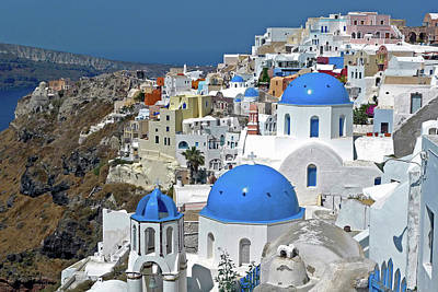 Santorini Photograph - Greece, Santorini by David Noyes