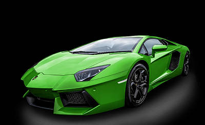 Photograph - Green Aventador by Matt Malloy