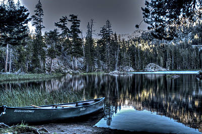 Photograph - Green Boat On Woods Lake by SC Heffner