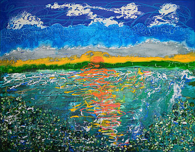 Mixed Media - Green Lake Sunrise by Donna Blackhall