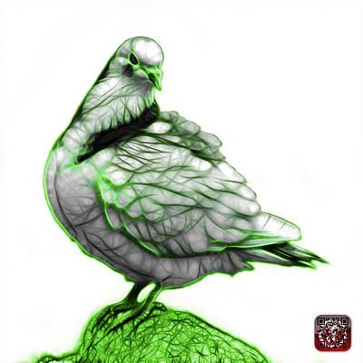 Digital Art - Green Pigeon Pop Art 5516 - Fs - Bb -  Modern Animal Artist Jame by James Ahn