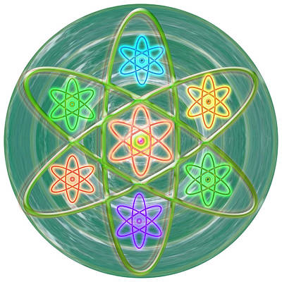 Chakra Painting - Green Revolution Chakra Mandala Art Yoga Meditation Tools Navinjoshi  Rights Managed Images Graphic  by Navin Joshi