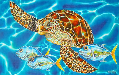 Green Sea Turtle Art Print by Daniel Jean-Baptiste