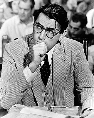 Gregory Peck In To Kill A Mockingbird  Print by Silver Screen
