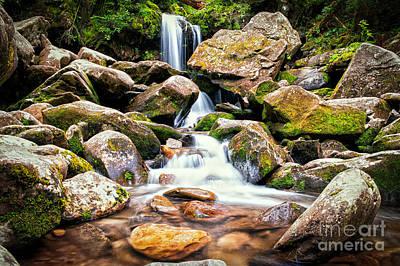 Thomas Kinkade Rights Managed Images - Grotto Falls Royalty-Free Image by Jonathan Virgie
